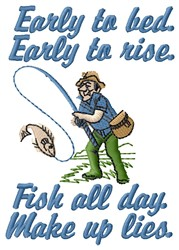 Fish All Day embroidery design
