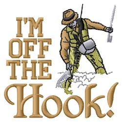 Off Hook embroidery design