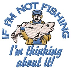 Not Fishing embroidery design