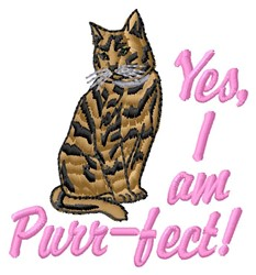 Purr-fect embroidery design