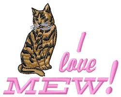 Love Mew embroidery design