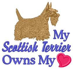 My Scottish Terrier embroidery design