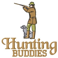 Hunting Buddies embroidery design