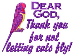 Dear God embroidery design