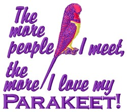 My Parakeet embroidery design