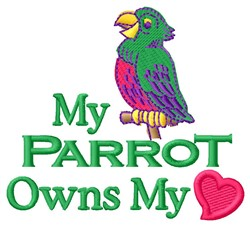 My Parrot embroidery design