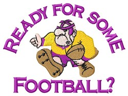 Ready For Football embroidery design