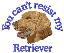 Resist My Retriever embroidery design