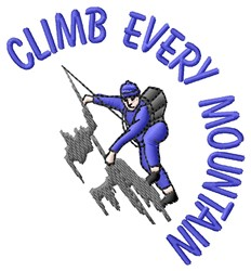 Climb Mountain embroidery design
