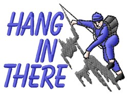 Hang In There embroidery design