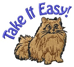 Take It Easy embroidery design