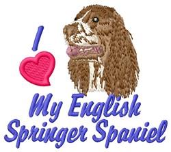 Love Springer Spaniel embroidery design