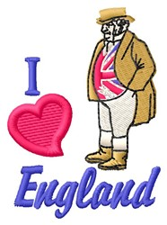 Love England embroidery design