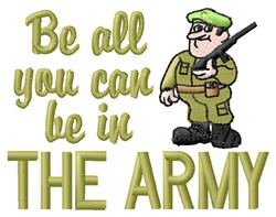 The Army embroidery design