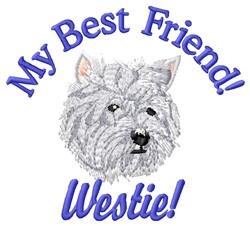 Westie  Friend embroidery design