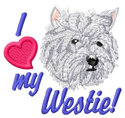 Love My Westie embroidery design