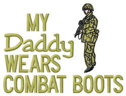 Combat Boots Daddy embroidery design