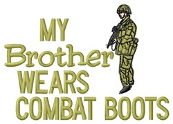 Combat Boots Brother embroidery design