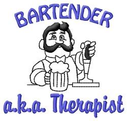 Bartender Therapist embroidery design