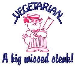 Vegetarian embroidery design
