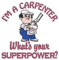 Superpower Carpenter embroidery design
