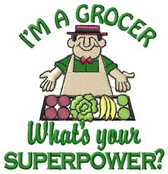 Superpower Grocer embroidery design