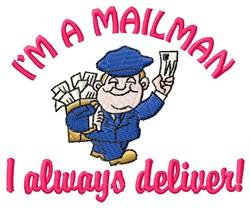 Mailman Deliver embroidery design