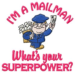 A Mailman embroidery design
