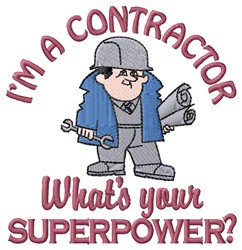 Superpower Contractor embroidery design