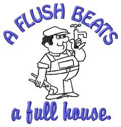 A Flush embroidery design