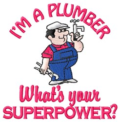 Superpower Plumber embroidery design