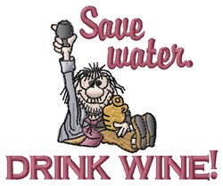 Drink Wine embroidery design