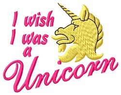 Was A Unicorn embroidery design