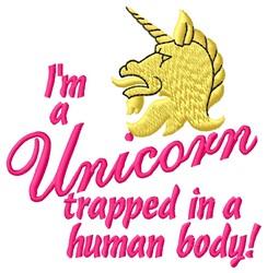 Trapped Unicorn embroidery design