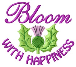 Bloom Happiness embroidery design