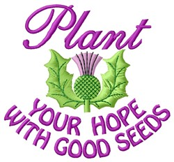 Plant Hope embroidery design