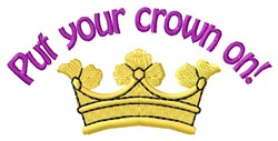 Put Crown On embroidery design