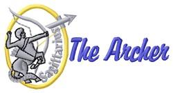 The Archer embroidery design