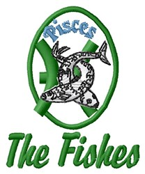 The Fishes embroidery design