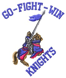 Knights Go Fight embroidery design