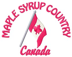 Maple Syrup Country embroidery design