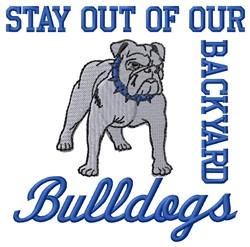 Bulldogs Backyard embroidery design