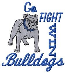 Bulldogs Go Fight embroidery design