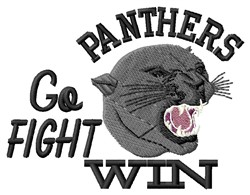 Panthers Go Fight embroidery design