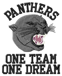 Panthers Team embroidery design