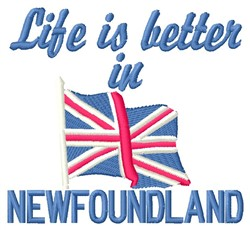 Better In Newfoundland embroidery design
