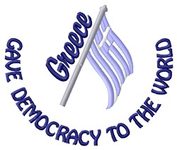 Democracy embroidery design
