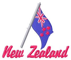 New Zealand embroidery design