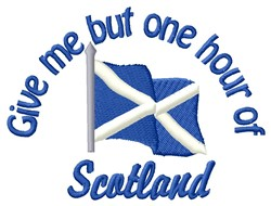Give Me Scotland embroidery design