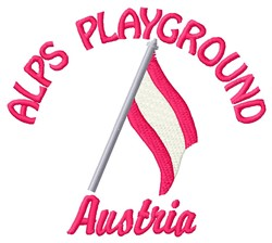 Alps Playground embroidery design